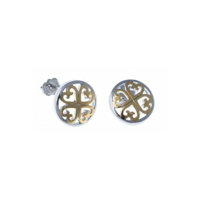 Boucles d'oreilles bijou fantaisie pour femme en acier - Stella