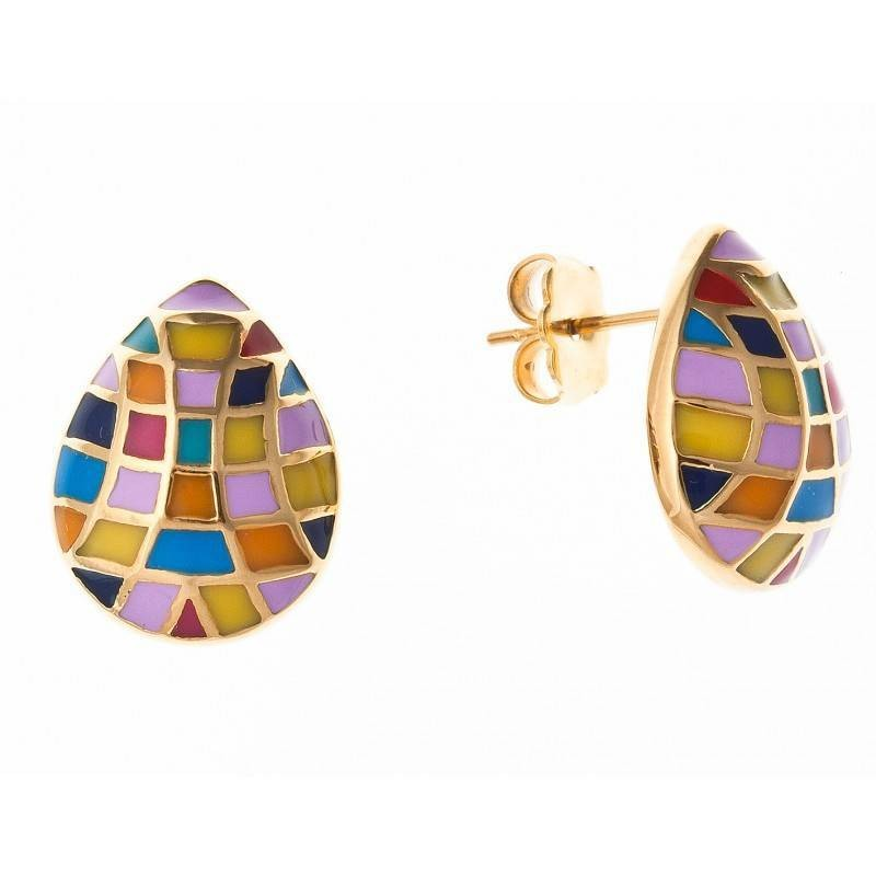 Boucles d'oreilles bijou fantaisie pour femme en acier - Utta