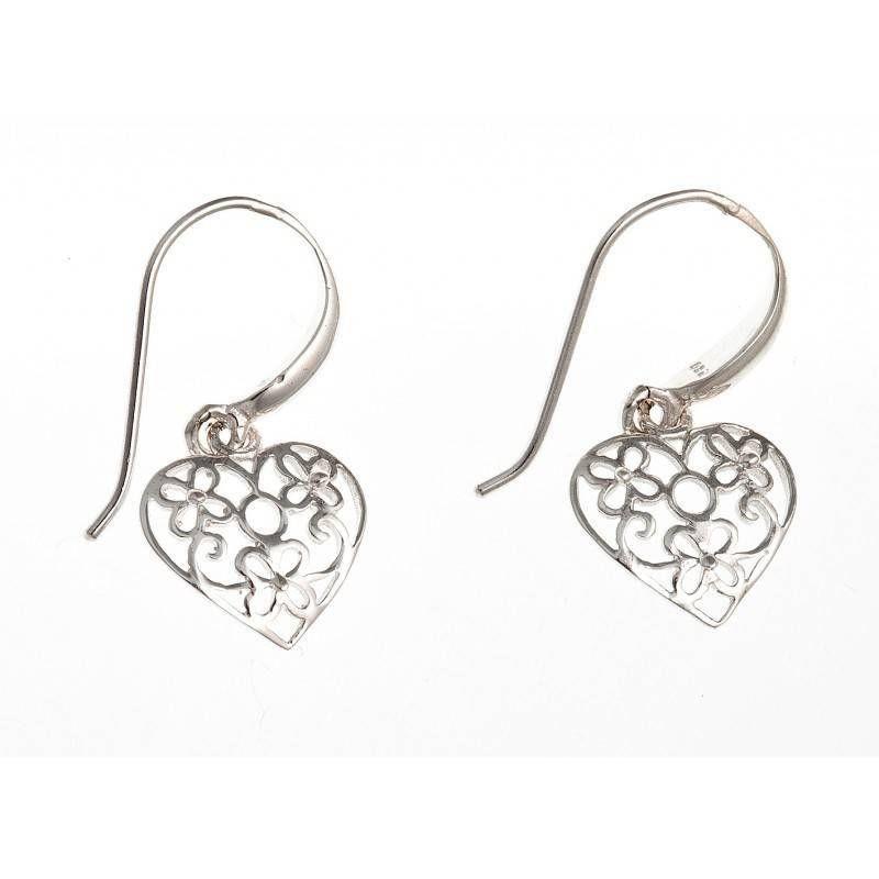 Boucles d'oreilles fantaisie pour femme argent - La