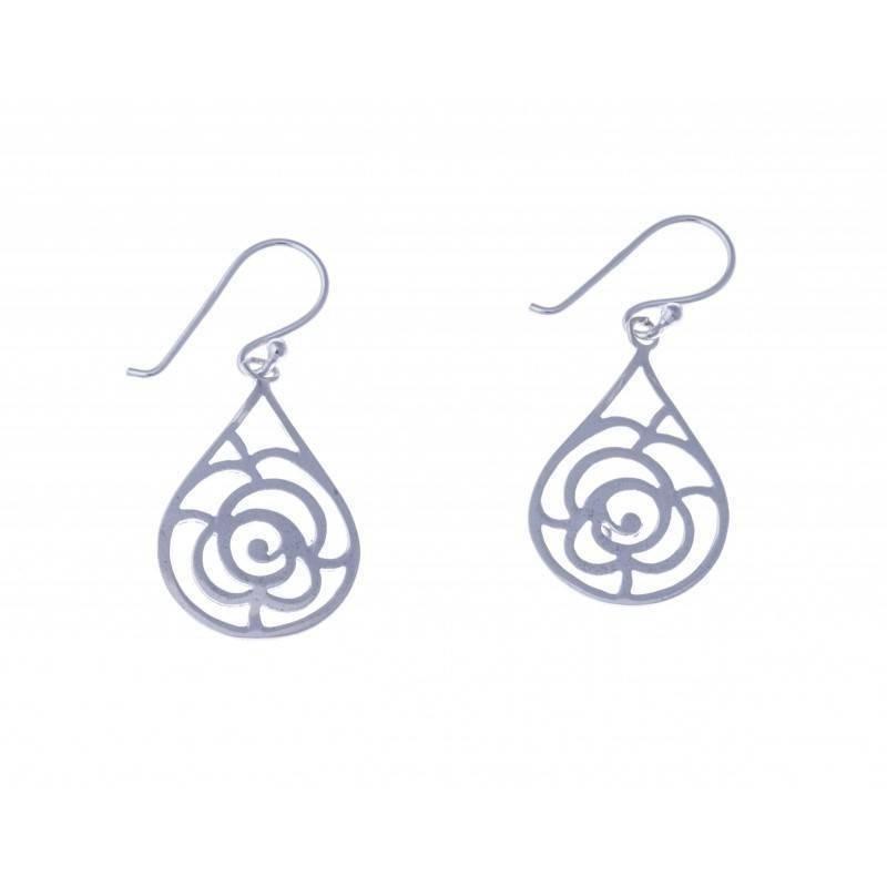 Boucles d'oreilles fantaisie pour femme argent - Symbiose