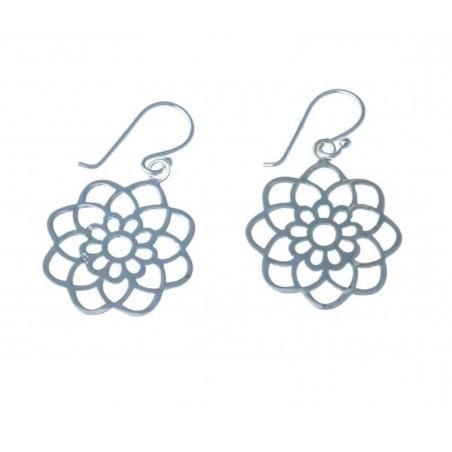 Boucles d'oreilles en argent 925/1000 - Rosina