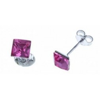 Bijou boucle d'oreille argent fantaisie pour femme - Olympe rose