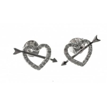 Boucles d'oreilles femme en argent - Cupidon