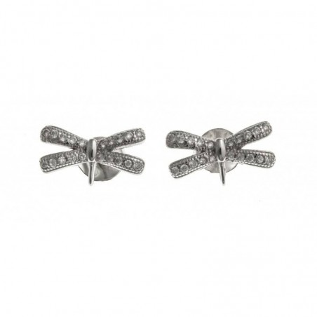 Boucles d'oreilles argent femme - Libelle