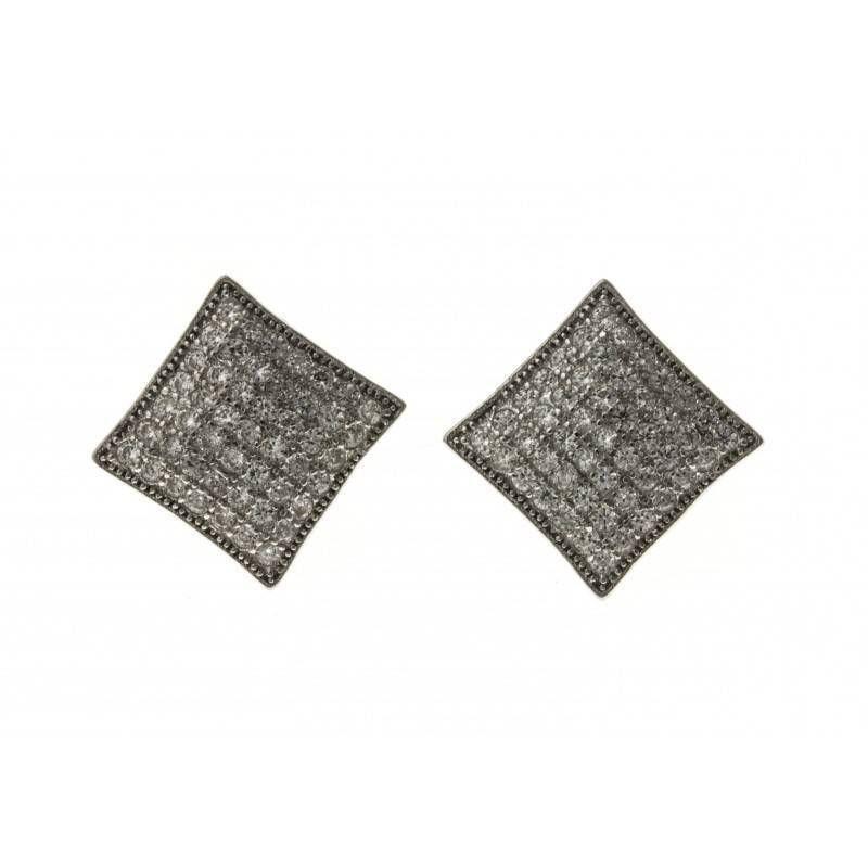 Boucles d'oreilles bijou fantaisie pour femme en argent - Trekko