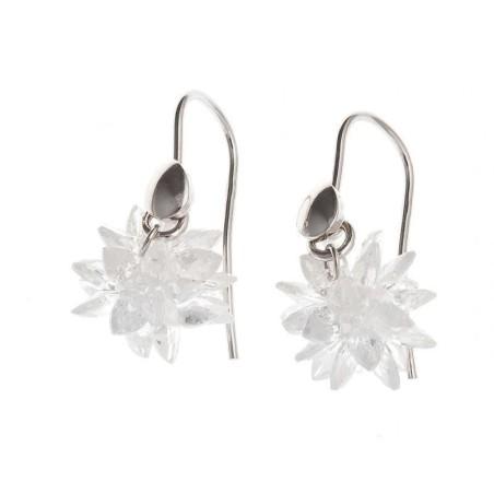 Boucles d'oreilles argent femme - Flocon