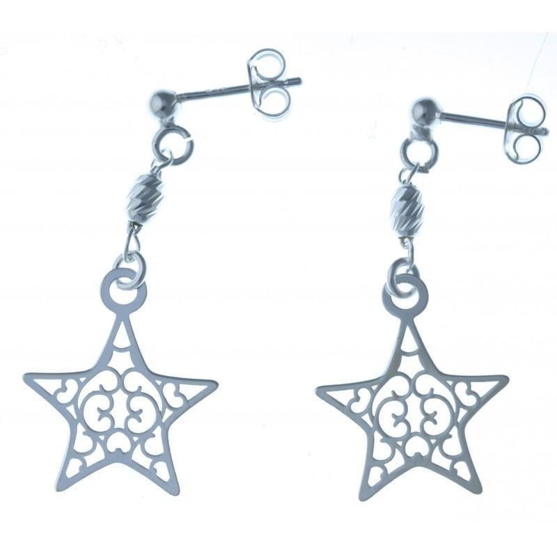 Boucles d'oreilles fantaisie pour femme argent - Estrella