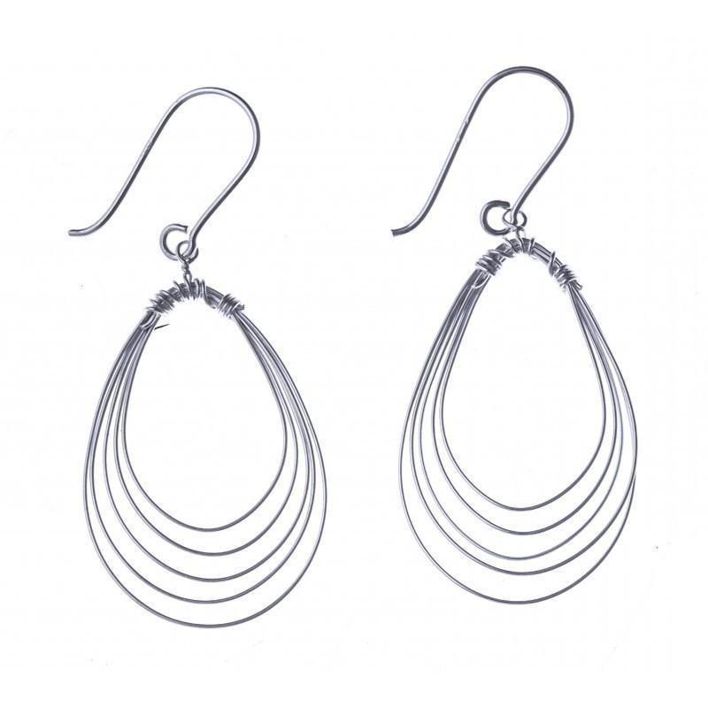 Boucles d'oreilles fantaisie pour femme argent - Si