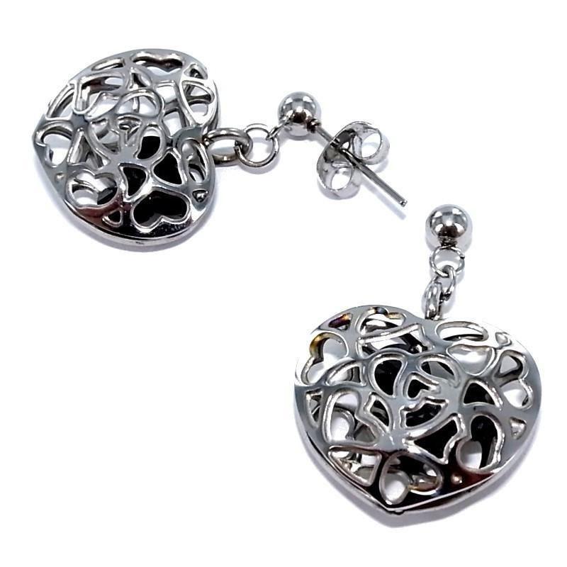 Boucles d'oreilles bijou fantaisie pour femme en acier - Carla