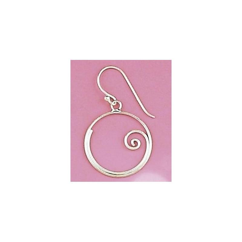 Bijou boucle d'oreille argent fantaisie pour femme - Arla