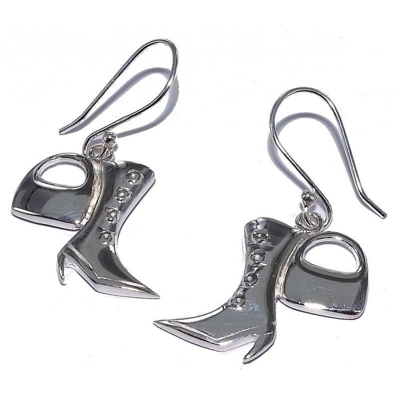 Boucles d'oreilles fantaisie pour femme argent - Fashionista
