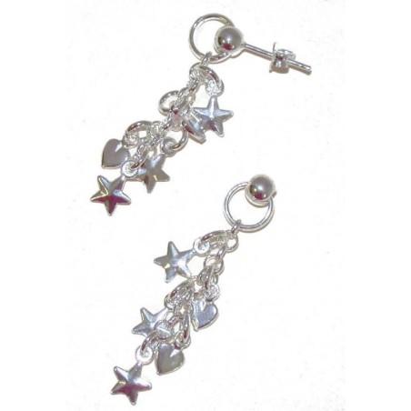 Boucles d'oreilles en argent 925/1000 - Like-a-star