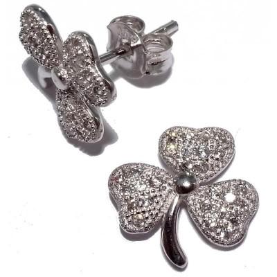 Boucles d'oreilles bijou fantaisie pour femme en argent - Floriane