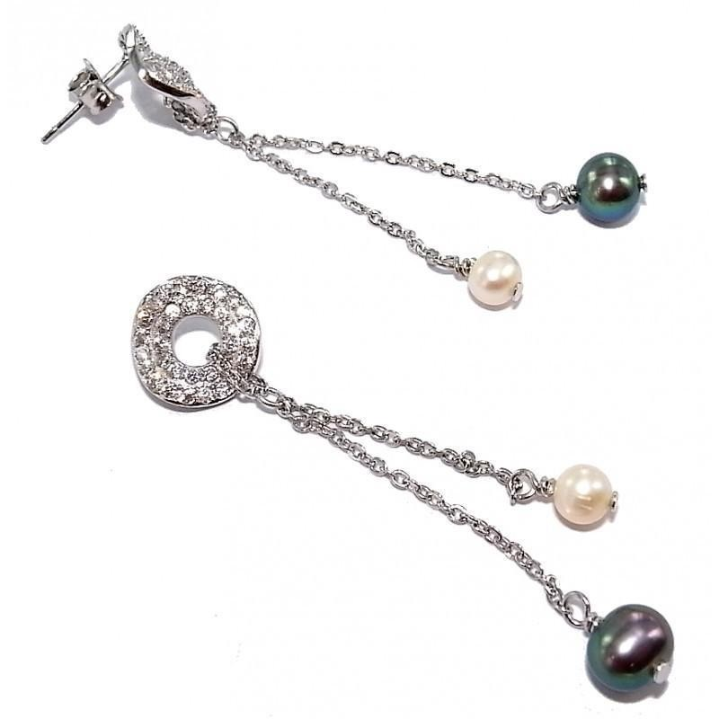 Boucles d'oreilles bijou fantaisie pour femme en perles - Prya