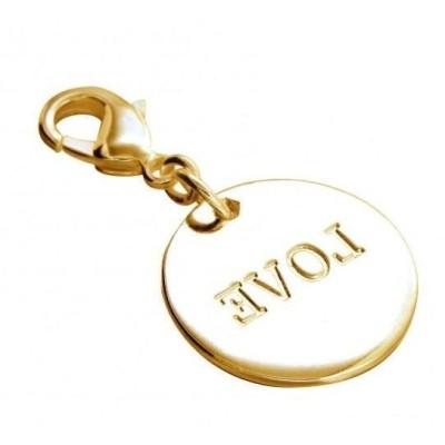 Charm femme LZ en plaqué or - Médaille Love