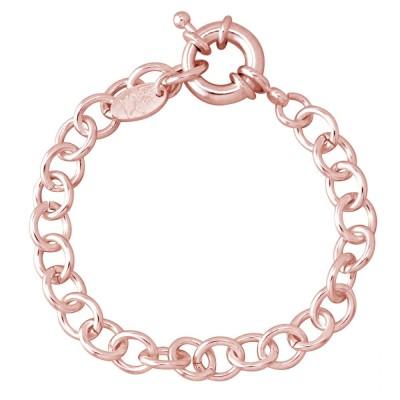 Bracelet en plaqué or rose - Gourmette charms