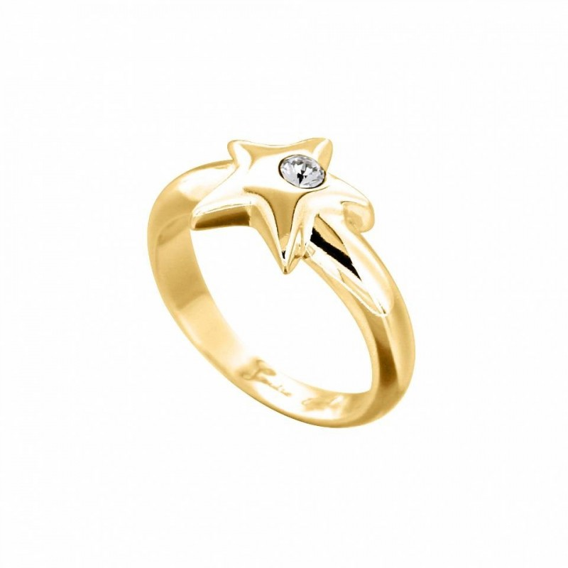 bague tendance pour femme en plaqué or et cristal de Swarovski Louise Zoé Bijoux - Etoilée