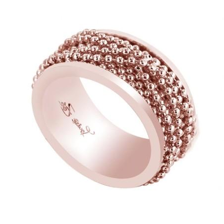 Bague pour femme en plaqué or rose LZ - Eva