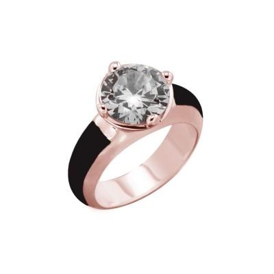 bague tendance pour femme en plaqué or rose et cristal de Swarovski Louise Zoé Bijoux - Vinka