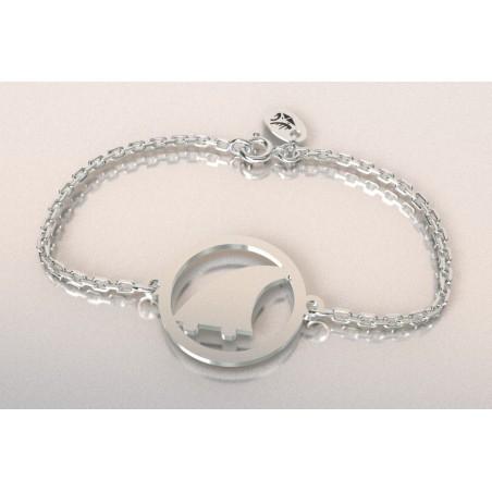 Bracelet créateur en argent, mixte - Surf-Aileron