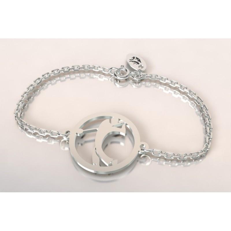 Bracelet créateur original mixte golfeur en argent