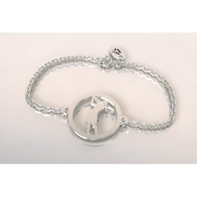 Bracelet créateur original mixte golfeuse en argent