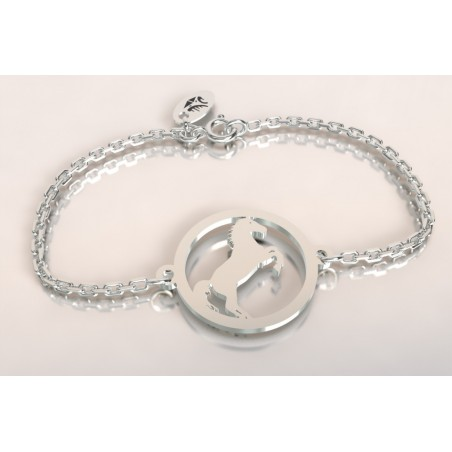 Bracelet créateur en argent, mixte - Cheval cabré