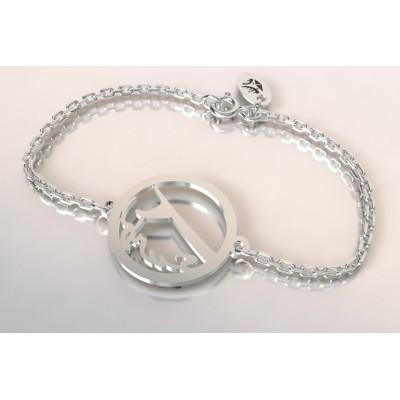 Bracelet de créateur en argent, unisexe - Surf sur la vague