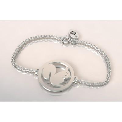 Bracelet créateur en argent, mixte - Ecureuil