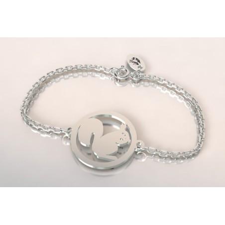 Bracelet de créateur en argent, unisexe - Ecureuil