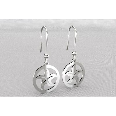 Boucles d'oreilles créateur en argent - Etoile de mer