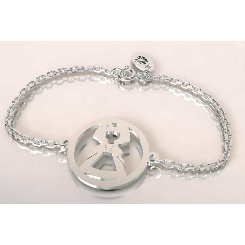 Bracelet créateur original mixte alsacienne en argent