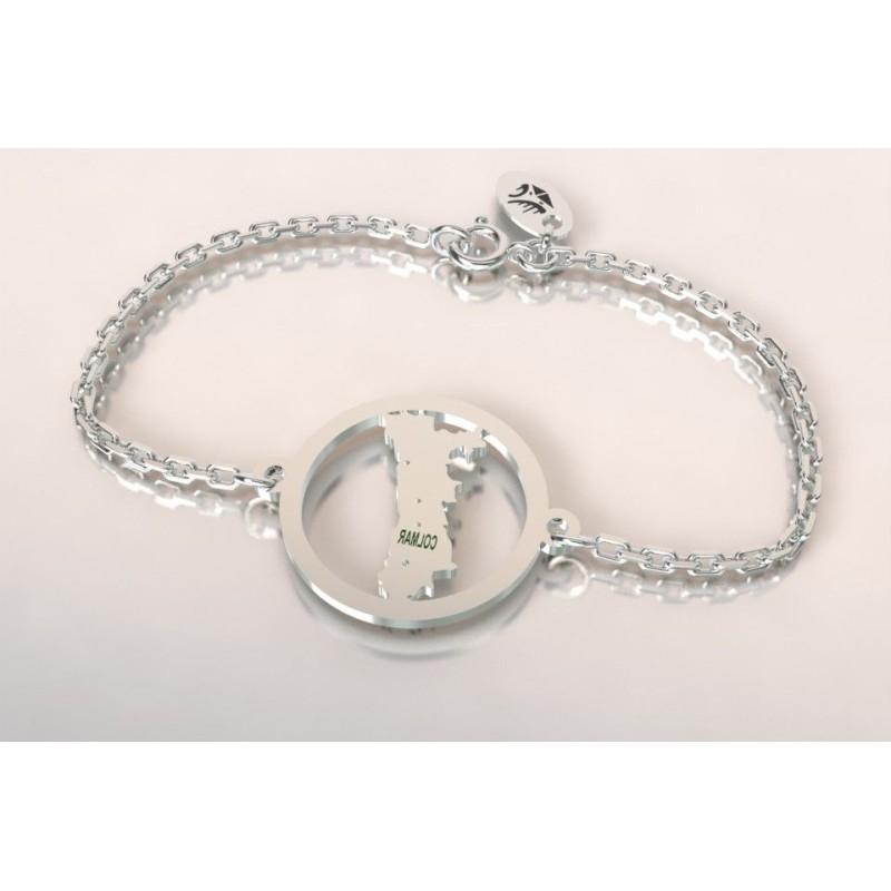 Bracelet créateur original mixte Alsace en argent