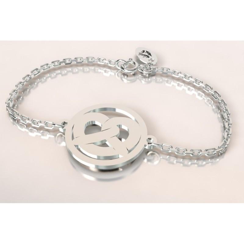 Bracelet créateur original mixte Bretzel en argent