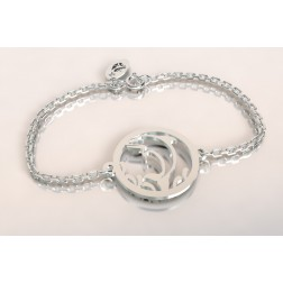 Bracelet de créateur en argent, unisexe - Dauphin