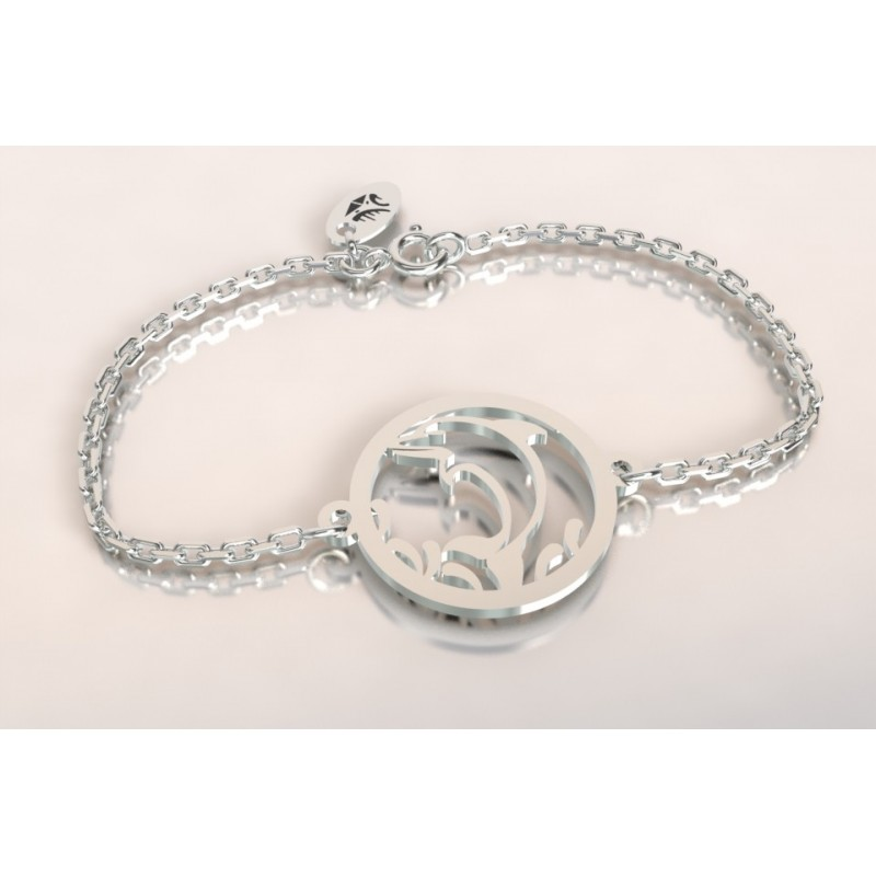 Bracelet créateur original mixte Dauphin en argent