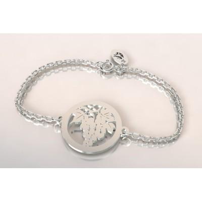 Bracelet de créateur en argent, unisexe - Grappe de raisin