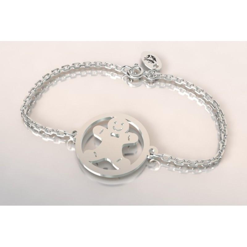Bracelet créateur original mixte Manala en argent