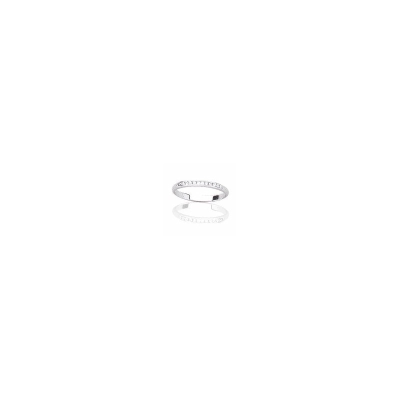 Alliance fine en or blanc 18 carats et diamants pour femme -Secret