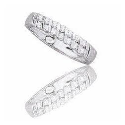 Alliance femme en or blanc 18 carats et diamant - Diane