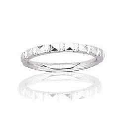Alliance en or blanc 18 carats et diamant pour femme - Rêveries