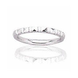 Alliance pour femme en or blanc 18 carats, diamant -Rêveries