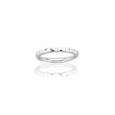 Alliance en or blanc 18 carats et diamant pour femme - Rêveries