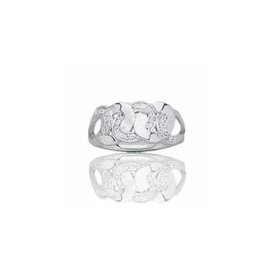 Bague en or blanc 18 carats, diamant pour femme - Ankara