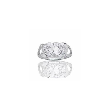 Bague en or blanc 18 carats, diamant - Ankara