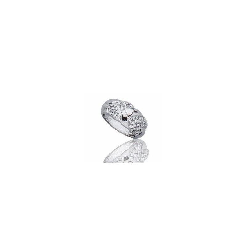 Bague femme en or blanc 18 carats, diamant - Isaure