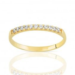 Alliance femme en or 18 carats et diamant - Bali