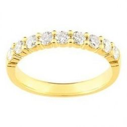 Alliance en or 18 carats et diamants pour femme - Cyclades