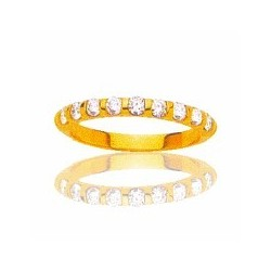 Alliance en or et diamants pour femme - Louisianne