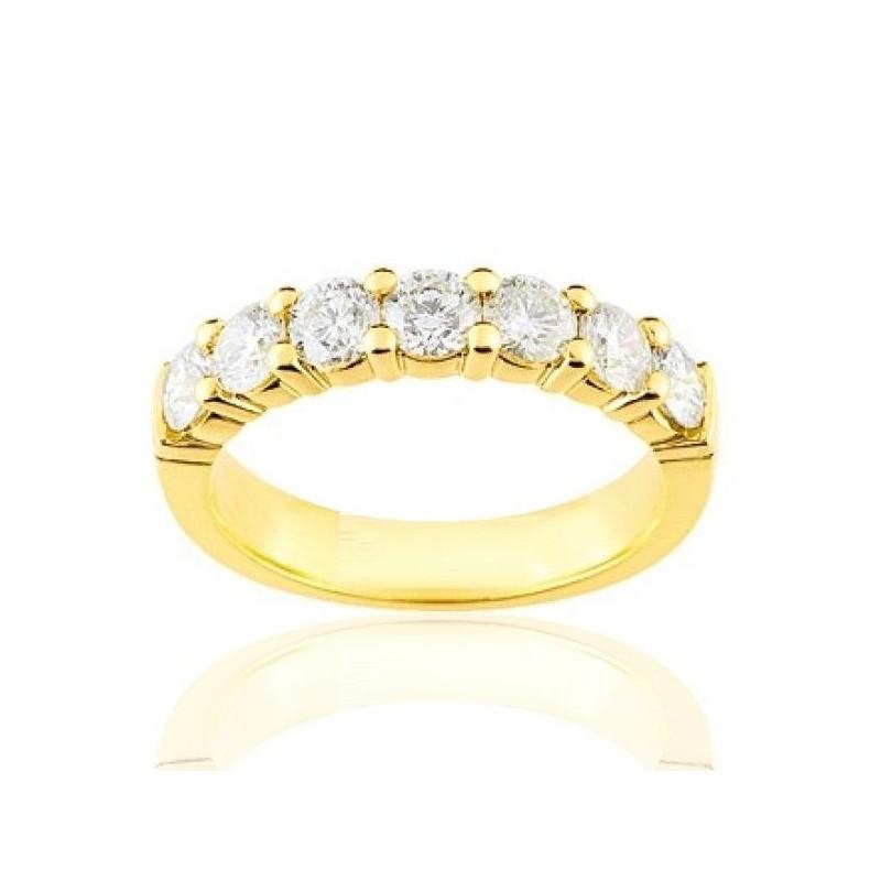 Alliance femme en or 18 carats et diamant - Andalousie